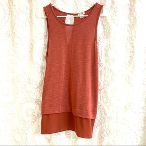 J Crew Loose Fitting Layered Sleeveless Blouse